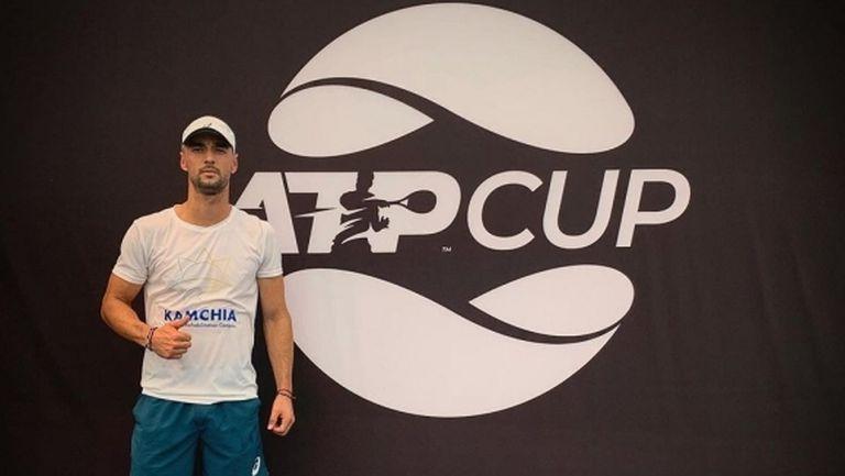 Повече от достойно представяне на Димитър Кузманов срещу 53-ия в света на ATP Cup