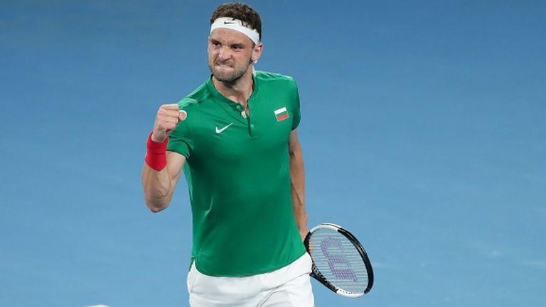 Григор проспа първия сет, но осигури първа победа на България на ATP Cup!