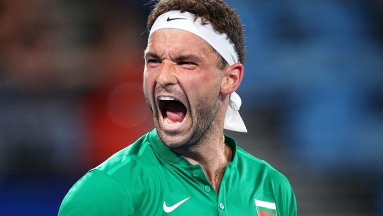 Почти безупречен Григор Димитров осигури нова победа на България на ATP Cup!