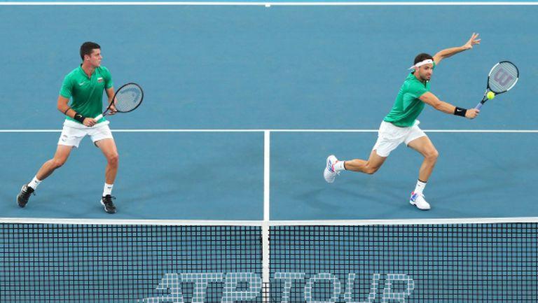 България едноличен лидер в групата си на ATP Cup
