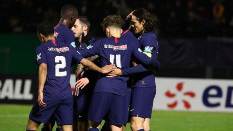 Пари Сен Жермен разгроми аматьори за купата на Франция