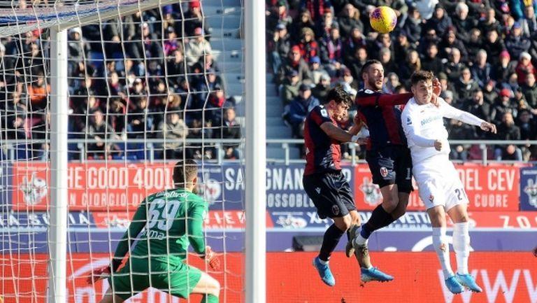 Зрелищен гол в 94-ата минута продължи головото постижение на Болоня