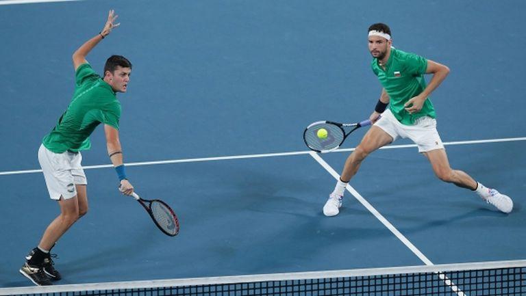Димитров и Лазаров се бориха, но отстъпиха на Белгия на ATP Cup