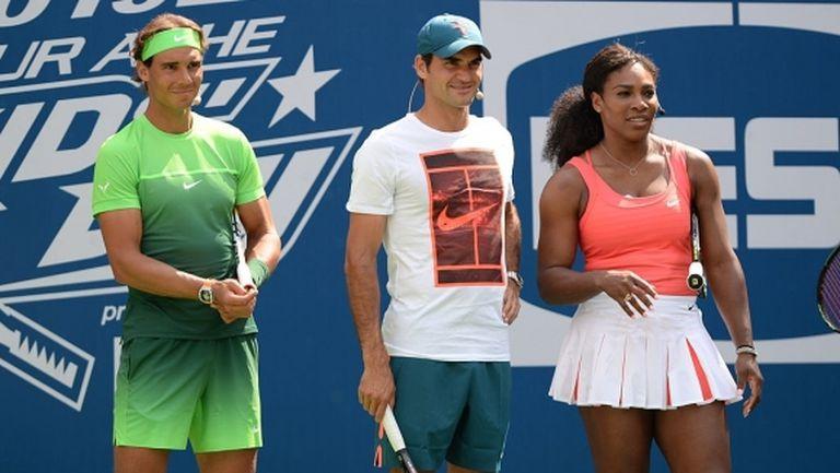 Федерер, Надал и Серина ще играят благотворително в помощ на Австралия
