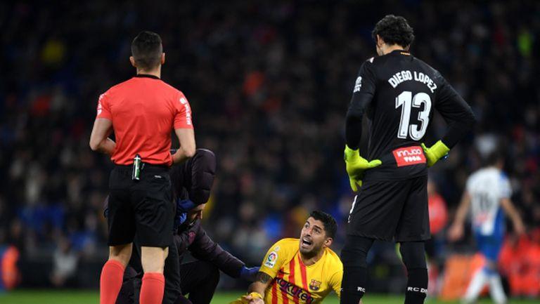 Барселона губи Луис Суарес за няколко седмици