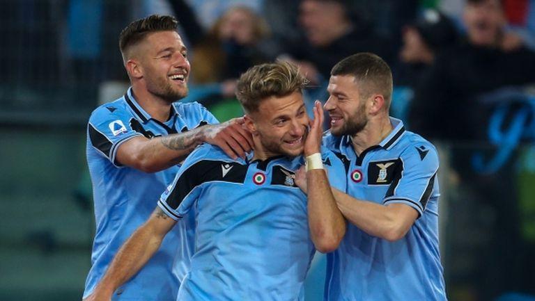 Вратарски гаф спомогна за рекордна победа на Лацио (видео)
