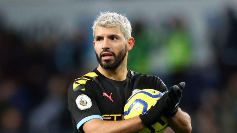 Агуеро влезе в историята след хеттрик срещу Астън Вила (видео)