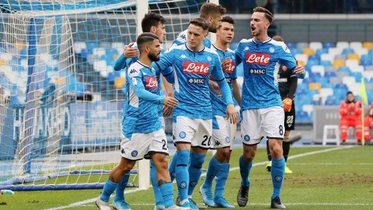 Наполи победи в мач с три дузпи и се класира за 1/4-финалите на Купата на Италия (видео)