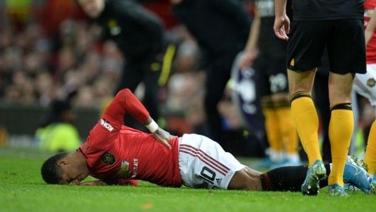 Рашфорд ще играе в дербито въпреки болката