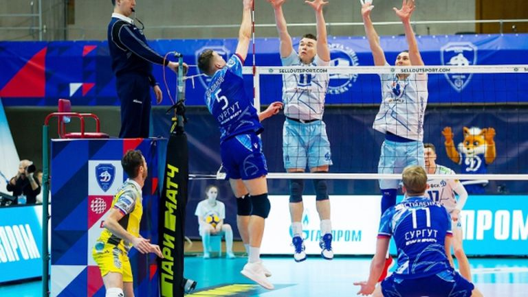 Теодор Салпаров и Газпром-Югра без шансове срещу Динамо в Русия (снимки)