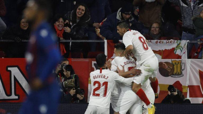 Севиля не сгреши срещу Леванте и продължава към 1/8-финала