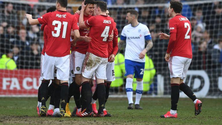 Ман Юнайтед се развихри на ужасен терен (видео)