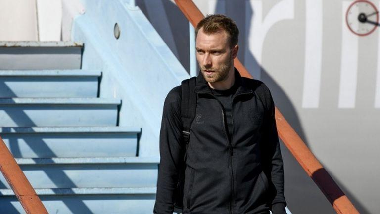 Ериксен пристигна в Милано