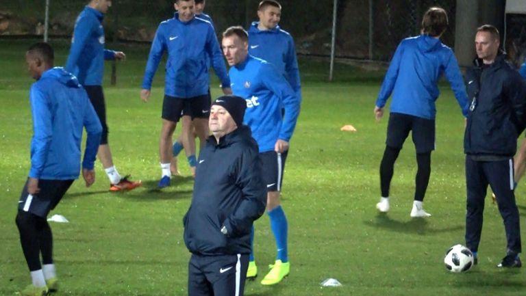 Последна тренировка на Левски преди контролата с УФА