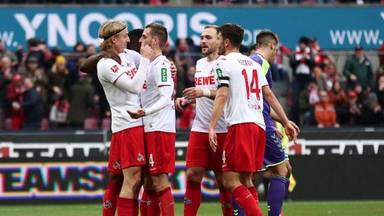 Кьолн продължава да разплаква съперниците у дома (видео)