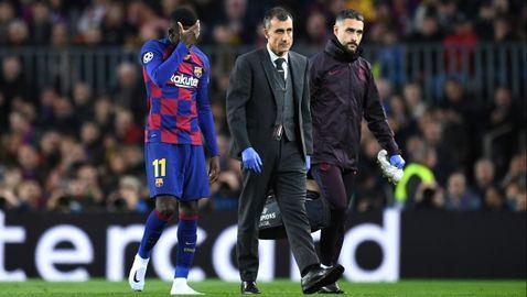 От Барселона потвърдиха за нова контузия на Дембеле
