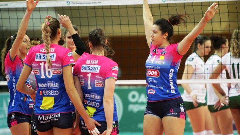 Елица Василева и Новара с разгром в Шампионската лига (видео + снимки)