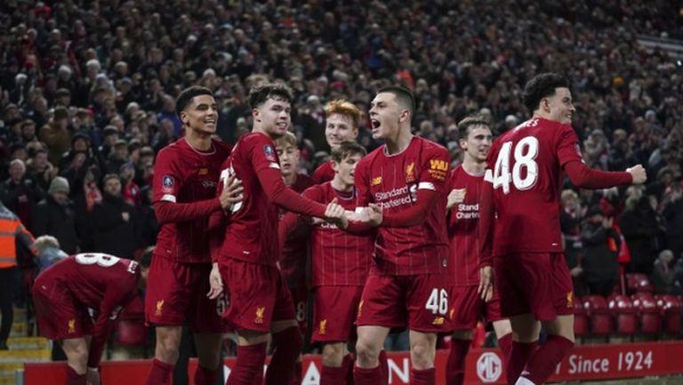 Автогол изпрати най-младия състав в историята на Ливърпул на 1/8-финал за ФА Къп (видео)