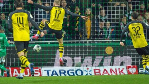 Вердер изхвърли Борусия (Дортмунд) за Купата, Холанд с нов гол