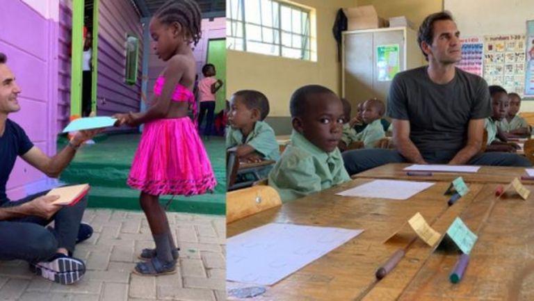 Федерер посети Намибия, срещна се с президента на страната (видео)
