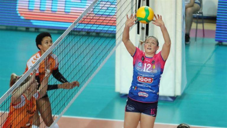 Съотборничка на Елица Василева с рекорд, заби 10 аса в Италия (видео)