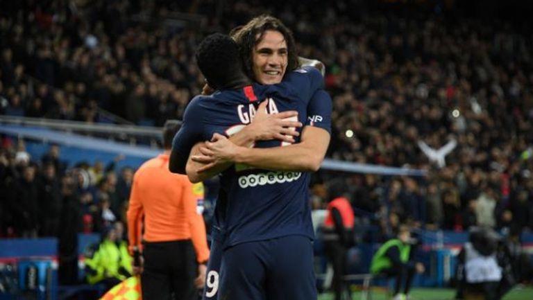 Пари Сен Жермен потрепери срещу Лион, но се укрепи на върха в Лига 1 (видео)