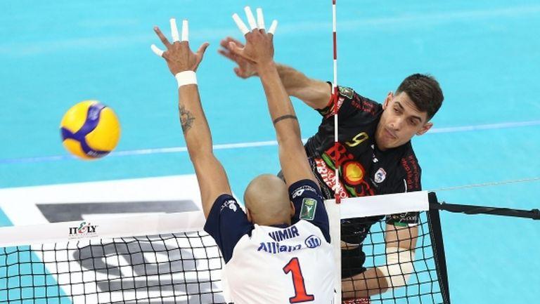 Бранимир Грозданов с 13 точки, Сора със загуба от Милано (снимки)