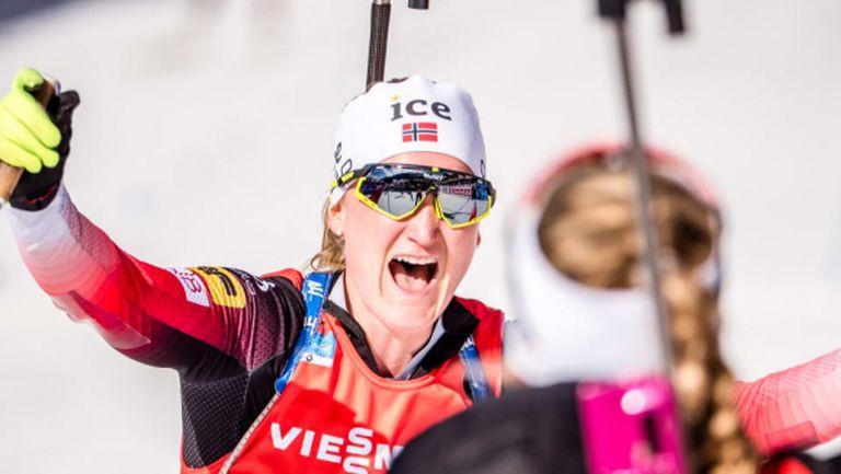 Норвегия спечели щафетата за жени! Марте Олсбу Рьозеланд с четвърта титла в Антхолц
