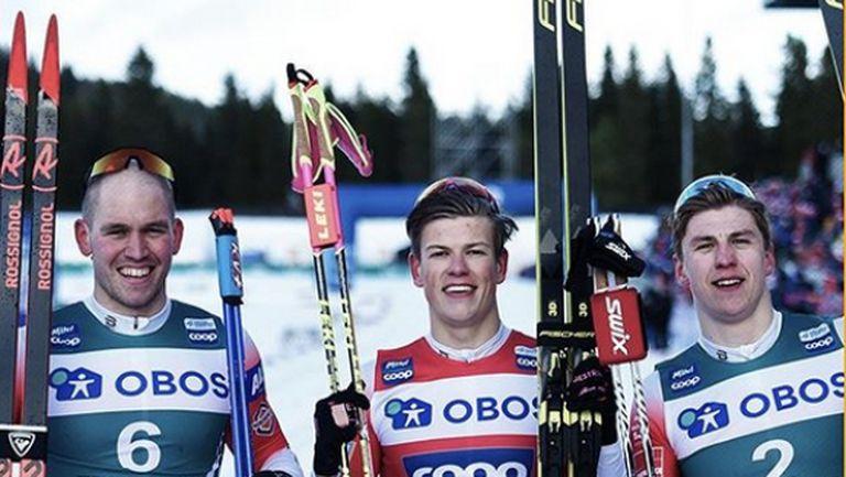 Йоханес Клаебо и Майкен Касперсен Фала доминираха в в спринтовете в Трондхайм (видео)