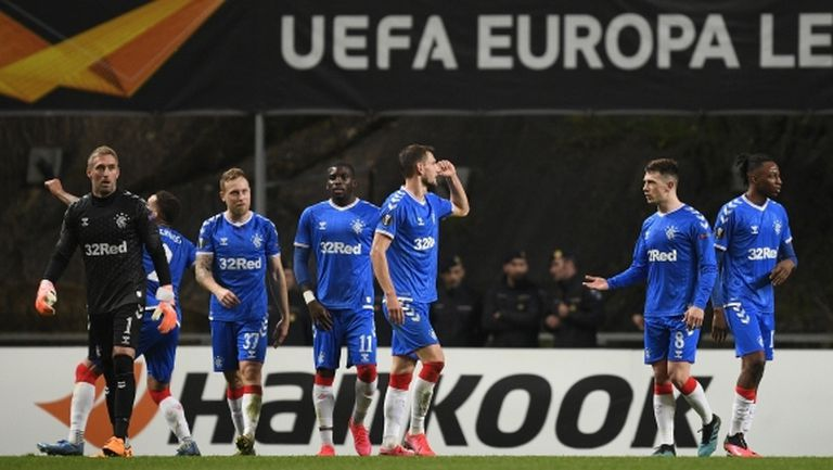 Рейнджърс е първият осминафиналист в Лига Европа (видео)