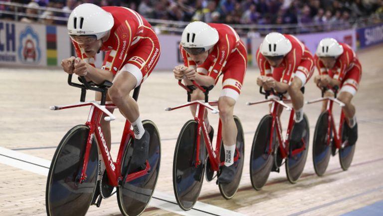 Титла и световен рекорд за Дания в отборното преследване на писта