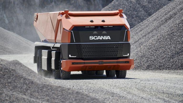Вижте напълно автономния концептуален камион без кабина на Scania