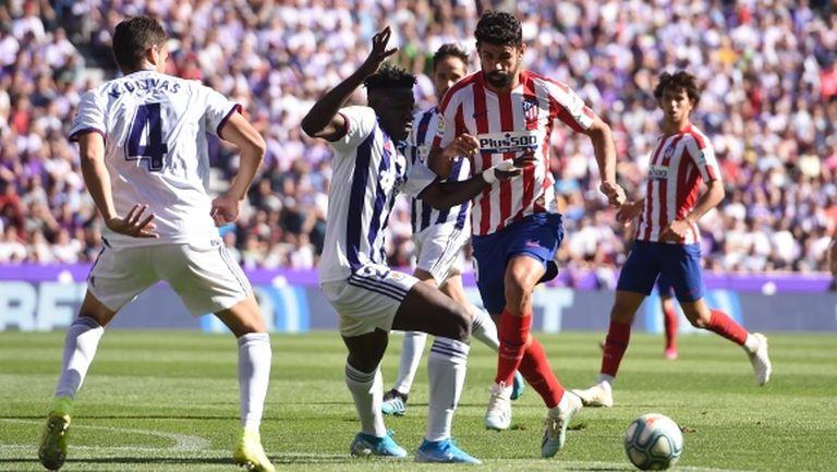 Атлетико позволи на Реал Мадрид да дръпне на върха (видео)