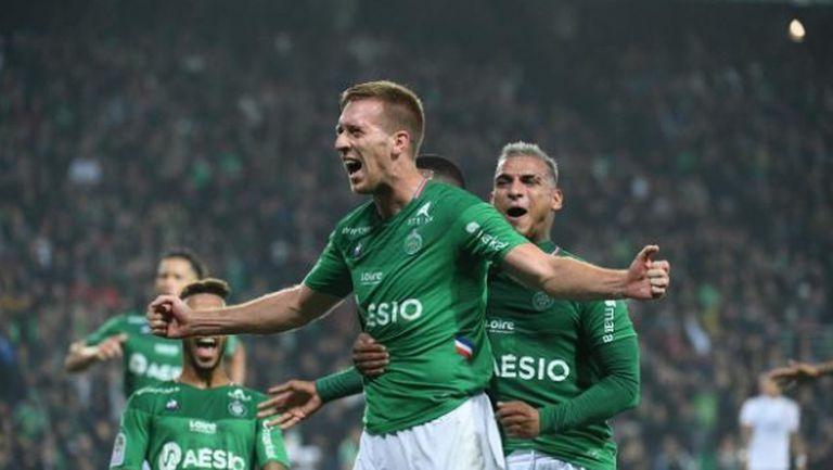 Сент Етиен изтръгна успех в дербито с Лион при дебюта на Пюел