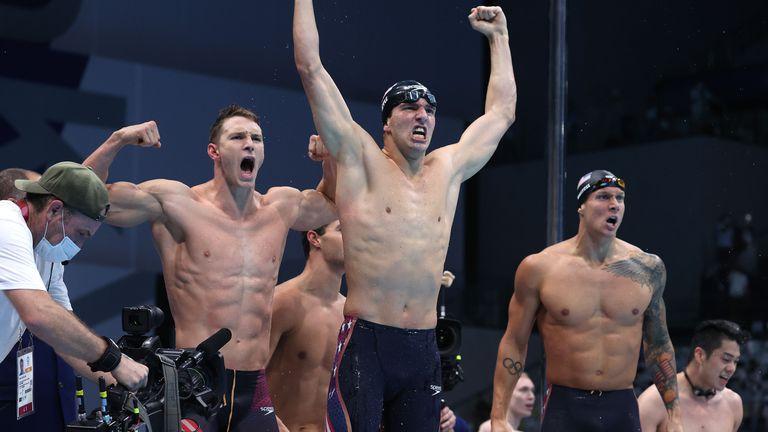 Триумф за САЩ на 4х100 съчетано за мъже на Игрите в Токио