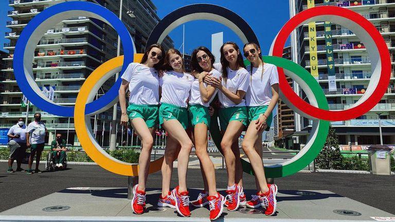 Българският отбор по художествена гимнастика пристигна в олимпийското село в Токио