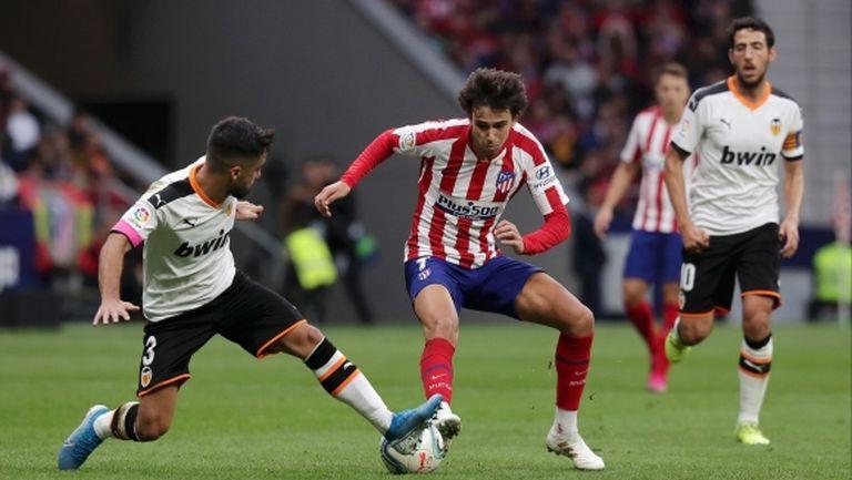 Атлетико и Валенсия разделиха по точка, Жоао Феликс се контузи (видео)