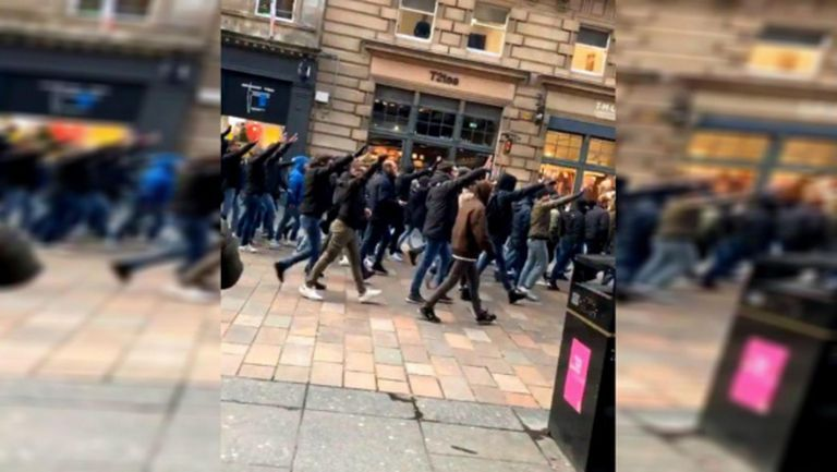Фенове на Лацио скандализираха Глазгоу