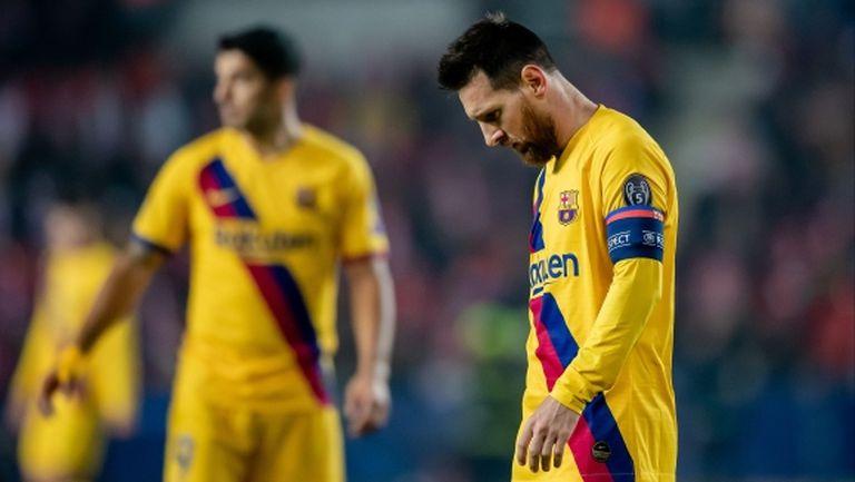 Играчите на Барса помежду си: Така няма да спечелим Шампионската лига