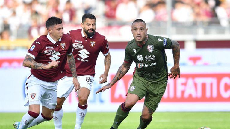 Каляри не загуби на пореден стадион в Италия