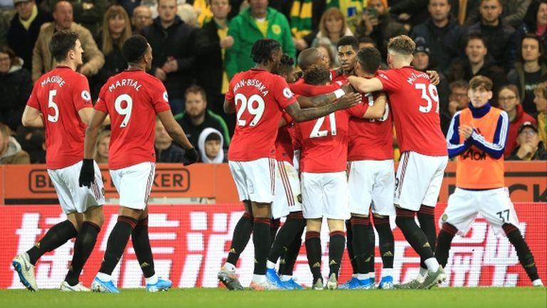 Ман Юнайтед изигра отличен мач срещу Норич и излезе седми