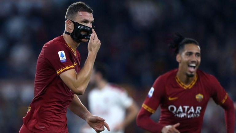 Рома наказа колеблив Милан и най-после стигна до победа (видео)
