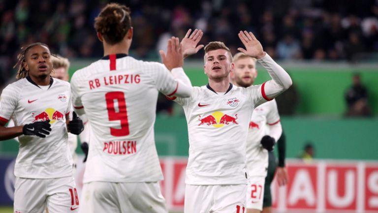 РБ (Лайпциг) размаза Волфсбург за купата, убедителен успех и за Вердер (видео)