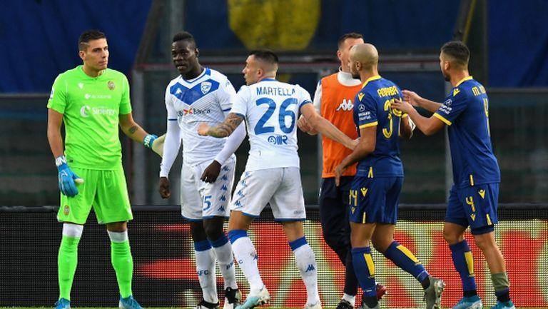 Прекъснаха мач в Италия заради расистки обиди към Балотели