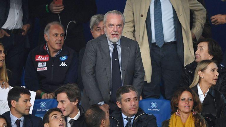Президентът на Наполи прати отбора на наказателен лагер