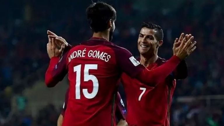 Кристиано Роналдо подкрепи контузения Андре Гомеш