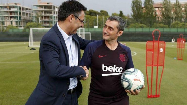 Бартомеу: Валверде е идеалният треньор за този етап на Барселона
