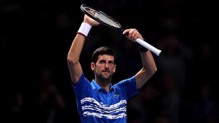Безпощаден Джокович прегази Беретини на старта на Финалния турнир на ATP (видео)