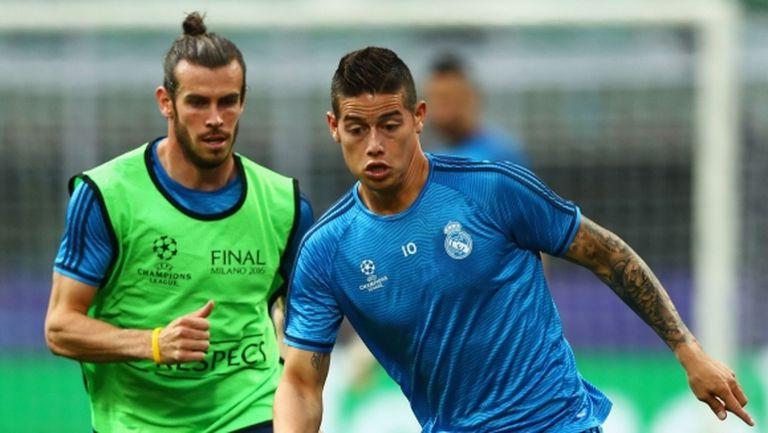 Бейл и Хамес не тренират в Реал Мадрид, но го правят с националните си отбори