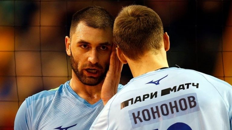 Цветан Соколов и Зенит (Казан) срещу шампиона Кузбас на полуфинал за Купата на Русия